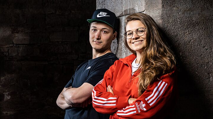 Ideentanke Team mega good Lukas und Hannah in bunt